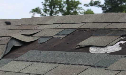 Missing Shingles on Roof