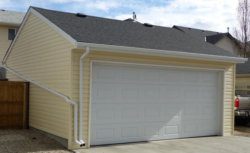reversed gable garage
